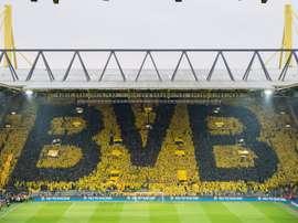 O muro amarelo. Twitter/BVB