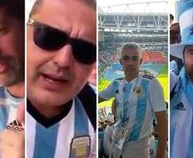 Aficionados argentinos sancionados por sus vídeos en el Mundial. Twitter