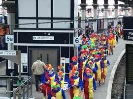 Los hinchas del Hartlepool acudieron así al partido ante en Tranmere. @iw1963