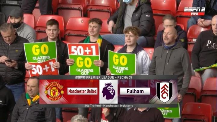 Les supporters sont retournés dans les tribunes de Old Trafford. Capture/ESPN2