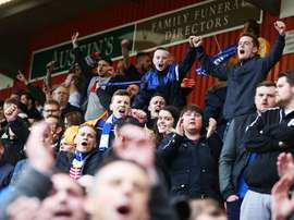Fans endured a difficult spell as the club suffered economically. Twitter/Portsmouth
