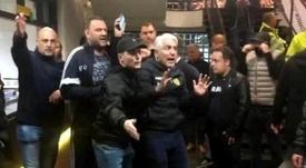 Fue expulsado del estadio por los hinchas y, ahora, renuncia a sus acciones. Captura/ZO-NWS