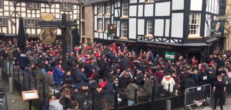 Les supporters espagnols sont chauds. Twitter/AlonsoRMarca