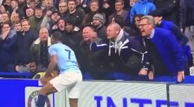 The fan in question denies that his insult towards Sterling was racist. CAPTURA/SKY