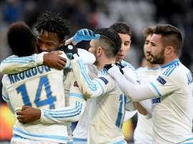 El Marsella venció al Girona y se hizo con el Trofeo Costa Brava. AFP