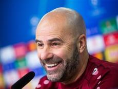 Peter Bosz has extended his Bayer Leverkusen contract until 2022. AFP