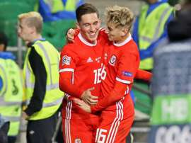 Harry Wilson scored for Wales in the Nations League against the Republic of Ireland. AFP