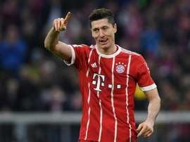 Lewandowski is Bayern's star marksman. AFP