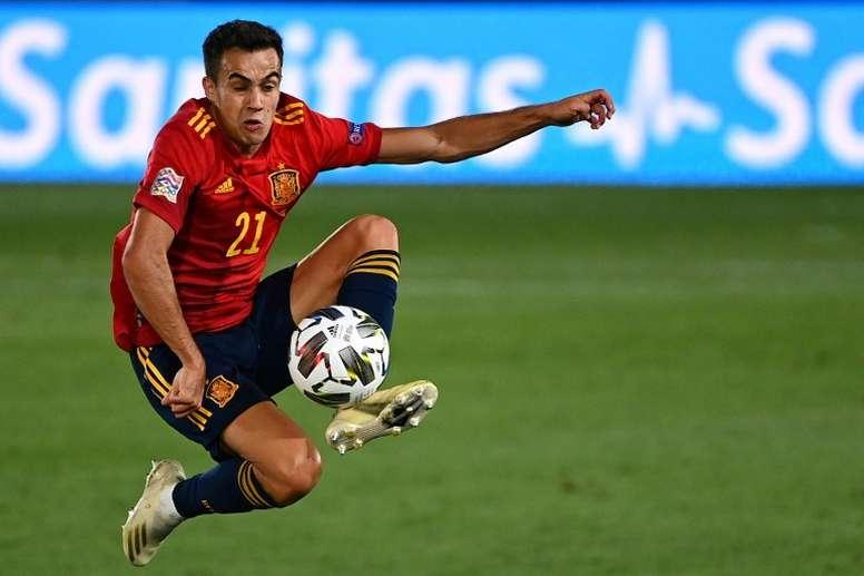 El Madrid echa de menos a Reguilón. AFP