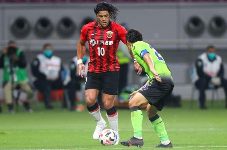 Hulk grabbed a late winner for Shanghai SIPG. AFP
