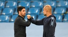 Arteta se mostrou grato a Pep Guardiola. AFP