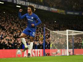 El Chelsea despidió a Willian tras la carta con la que se despidió de Stamford Bridge. AFP