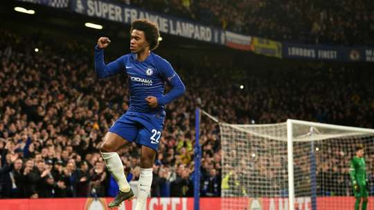 El Chelsea despidió a Willian tras la carta con la que se despidió de Stamford Bridge. AFP
