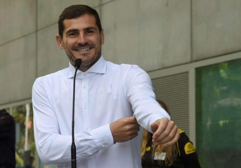 Casillas solo piensa en la victoria en el Pizjuán. AFP