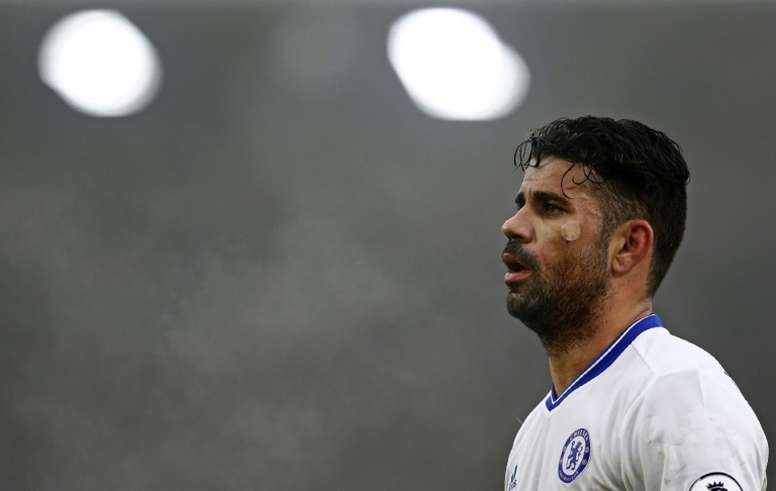 Costa's header sealed another win for the Blues. AFP