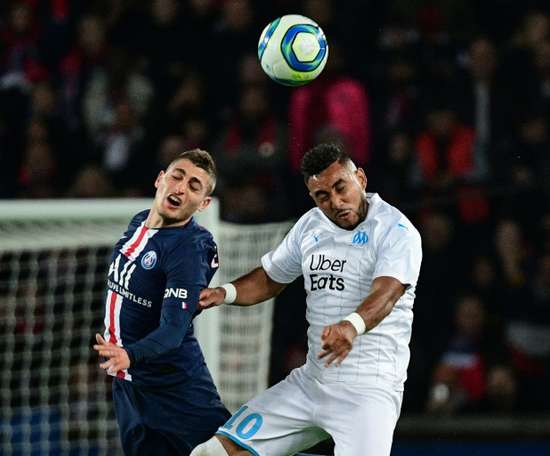 PSG will be without Verratti (L) for the game with Monaco. AFP