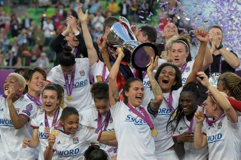 Lyon women still waiting for title despite season ending. AFP