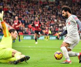 Mo Salah has been hailed as one of the best in the world by one English manager. AFP