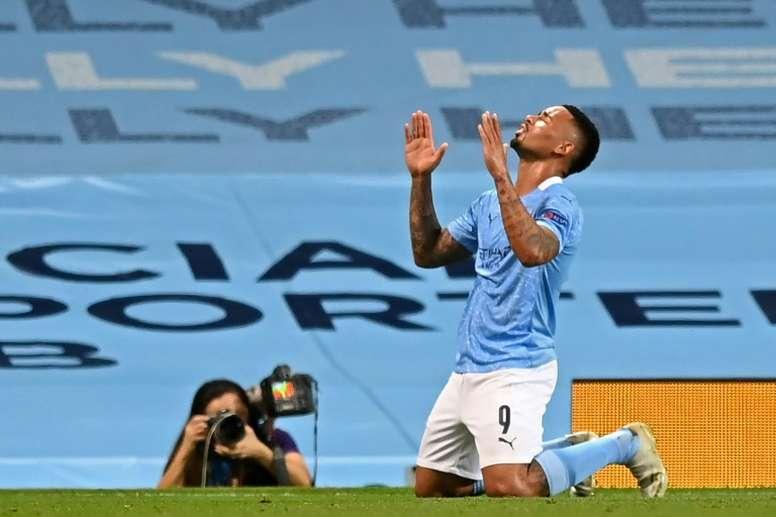 Jesus scored against Real Madrid. AFP
