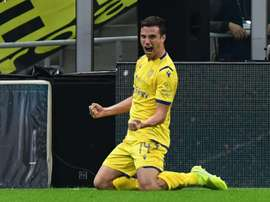 Verre scored one of the goals in Verona's three goal fight back against Torino. AFP