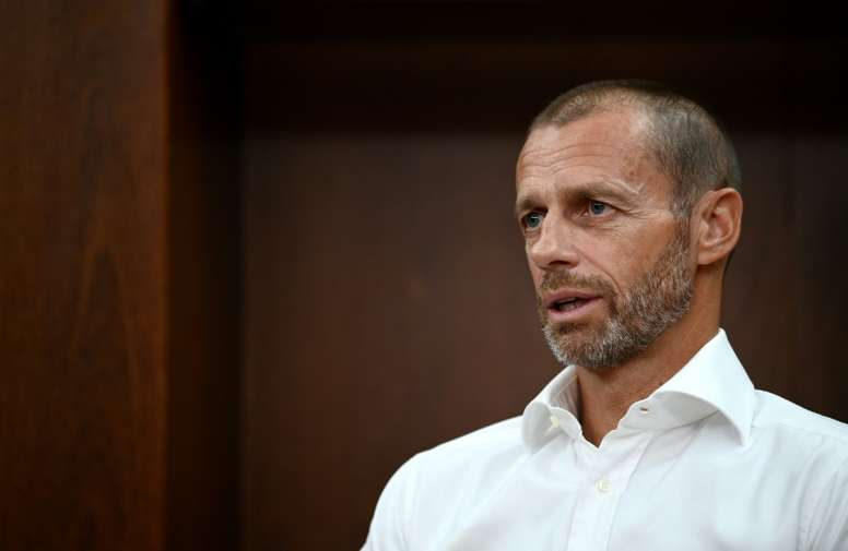 UEFA president Aleksander Ceferin says this final eight format is just a one off. AFP