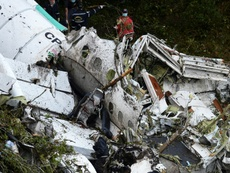Rescue teams work on the recovery of bodies of victims of the crash in Colombia. AFP