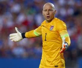 Brad Guzan left Aston Villa