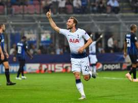 Eriksen is a star man for Tottenham, but they are yet to tie him down to an extended contract . AFP