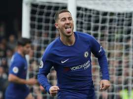 Hazard anotó un doblete. AFP