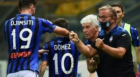 Kulusevski adelantó al Parma, pero llegó la remontada. AFP