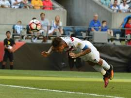 Perus Paolo Guerrero scores against Haiti during the Copa America Centenario, to win the match and become his countrys top goal scorer