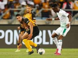 Bloemfontein Celtic (in white) beat Baroka in the Nedbank Cup semi-final. AFP