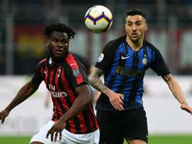 Kessie was targeted twice by Inter chants. AFP