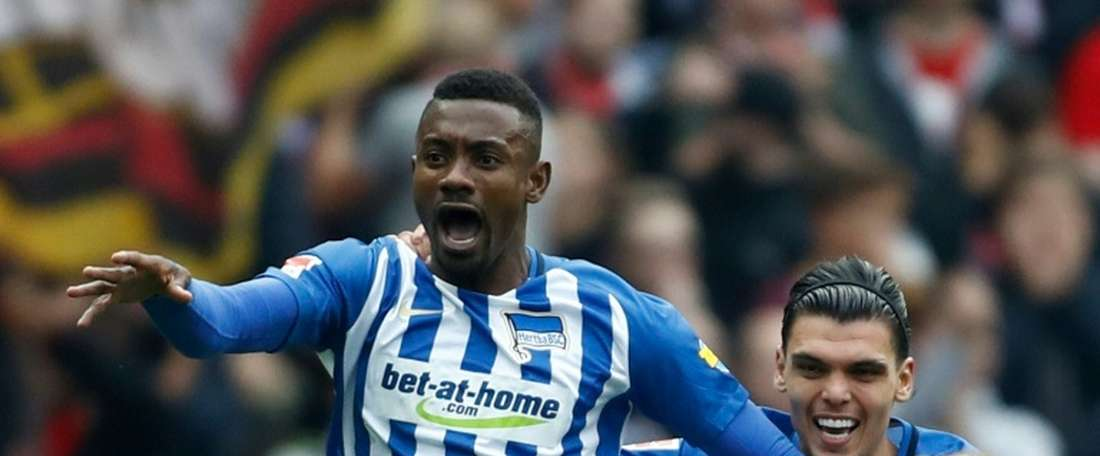 Kalou's goal piled misery on Hertha Berlin. AFP