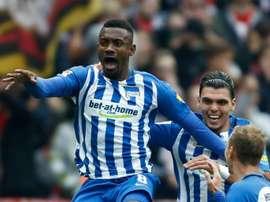 Kalou's goal piled misery on Hertha Berlin. AFP