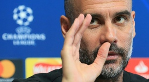 Guardiola analysed the situation in Catalonia. AFP