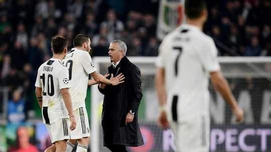 Dybala se encaró con el portugués. AFP
