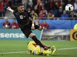 Albania, por encima de Turquía. AFP