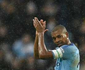 Pep espère que Fernandinho restera à City. AFP