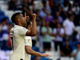 Real Madrid's Mariano Diaz scored twice in a 3-2 win over Villarreal on Sunday. AFP