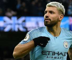 Aguero was on scintillating form to drive his team to an emphatic victory. AFP