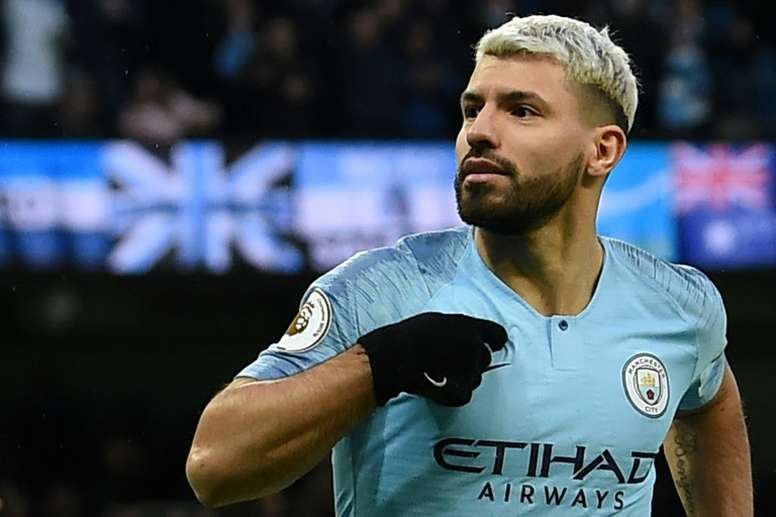 Sergio Aguero is City's go-to man for title race. AFP