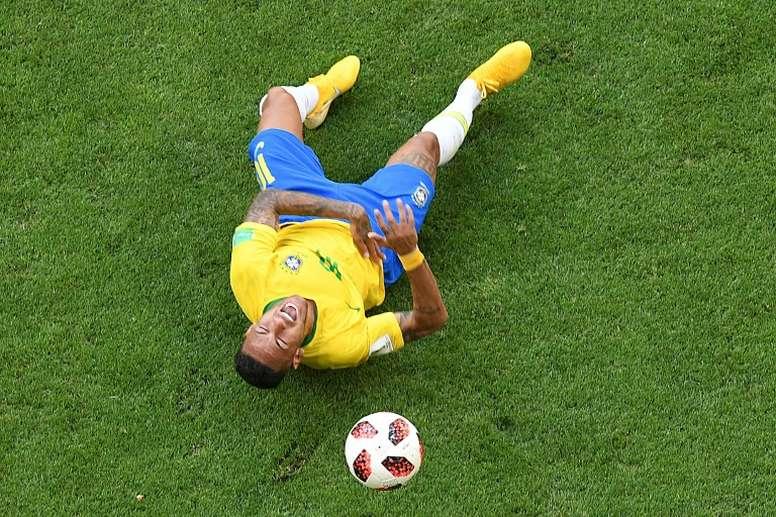 Neymar, señalado. AFP/Archivo