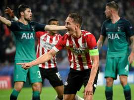 PSV captain De Jong equalised late to nick a share of the points. AFP
