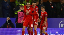 Bale scored for Wales in the 1-1 draw with Croatia in Cardiff. AFP