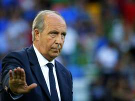 Italys coach Piero Ventura won with his team 5:0 against Liechtenstein. AFP