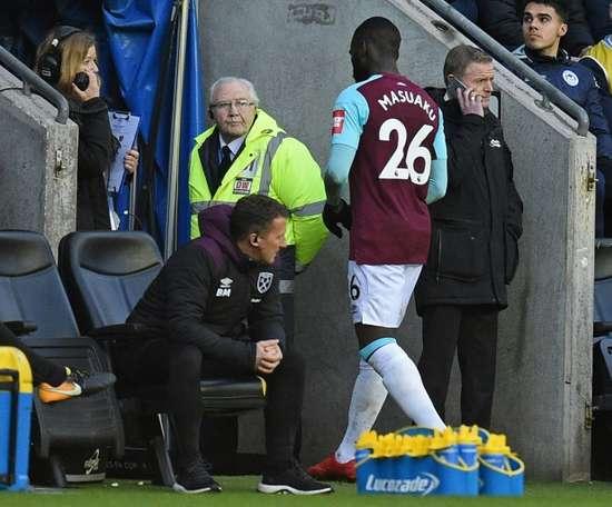 Msuaku pourrait quitter West Ham au prochain mercato des transferts. AFP