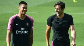 Areola and Buffon together in training for PSG. AFP