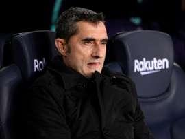 Valverde s'est exprimé avant la réception de Valladolid. AFP