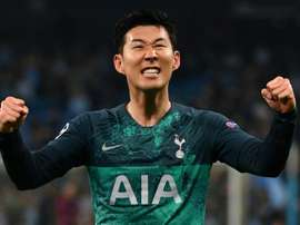 Son Heung-Min scored 2 goals in the victory over Tottenham. AFP